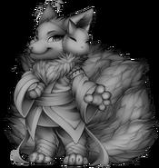 Mythical fox