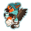 4167-cozy-gryphon-sticker