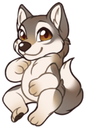 Chibi-canine-timber-wolf