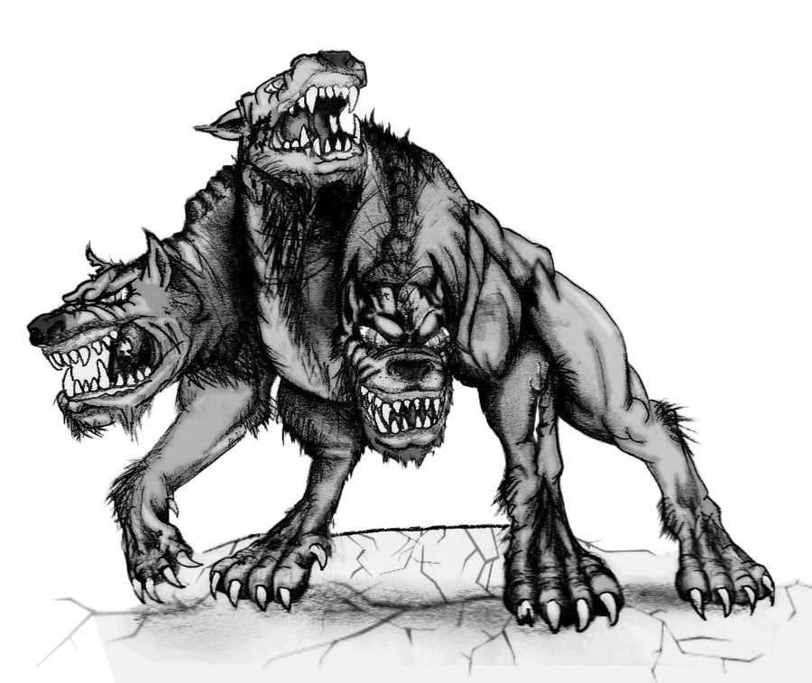 three headed beast coloring pages - photo#39