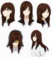 Yuki s headshot sheet haikyuu oc by black moon raven-d9hbpfr