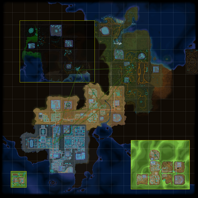 FusionFall Map v4 with SCAMPER routes (no labels) (and also no credits)
