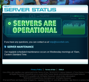 Servers are operational ftw