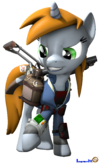 Littlepip with her pipbuck and raider armor sfm by longsword97-d6k2zoh