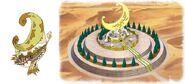 Pałac i sterowiec Królestwa Księżyca
