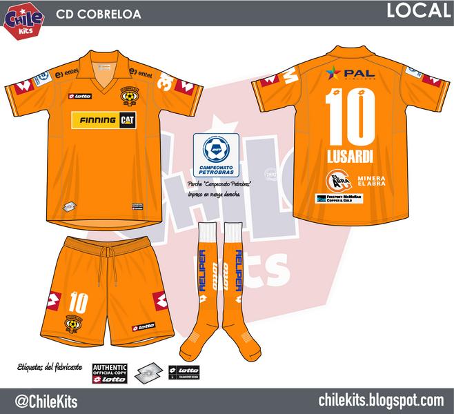 Imagen - Uniforme de local de Cobreloa.png   Wiki Futbol chileno ...