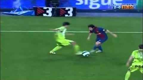 El mejor gol de Lionel Messi - Barça - Getafe- Liga BBVA