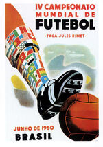 1950 Football World Cup poster