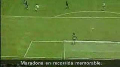 Argentina 2 - Inglaterra Gol del siglo