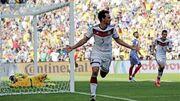 Mats Hummels comemora gol contra os franceses na copa do mundo de 2014