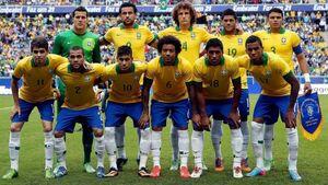 Brasil 2014 com os 11 jogadores titulares