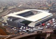 Vista aérea da Arena Corinthians