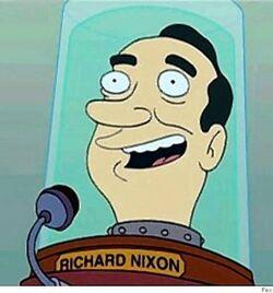 Richard M. Nixon's head