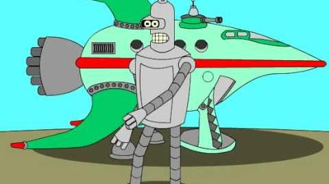 An Animation Test of Bender the Robot