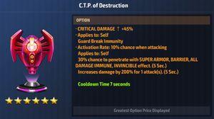 CTP of Destruction Max Stats