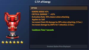 CTP of Energy Max Stats