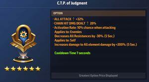 CTP of Judgment Max Stats