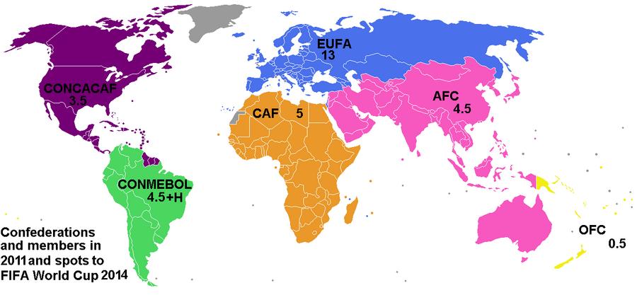 FIFA confederations 2011