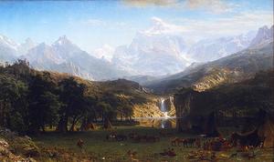 Бирштадт Скалистые горы, пик Ландера
