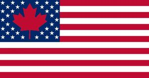 Canadamerican 34 Flag