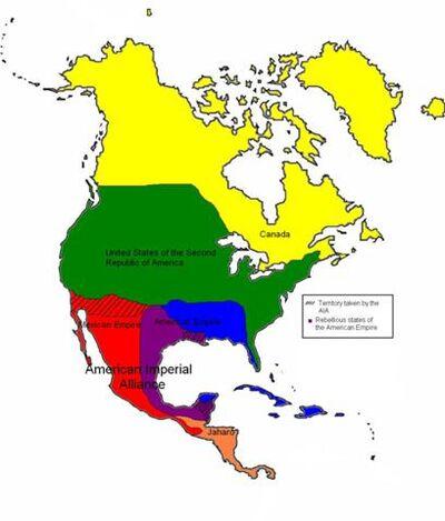 Map of north america 2
