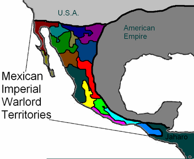 Mexican imperial warlord territories