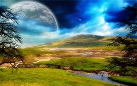 Night on British Isle (Earth, 24th cen, NR)