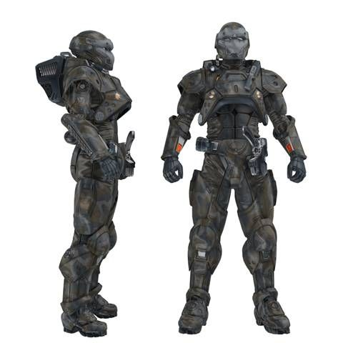 Fusion Power Armor World War III 2048 2055