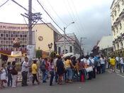 Line at the Corazon Aquino wake at the Manila Cathedral
