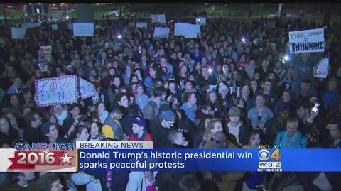 Trump's Win Sparks Protests In Boston