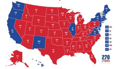 Карта выборов