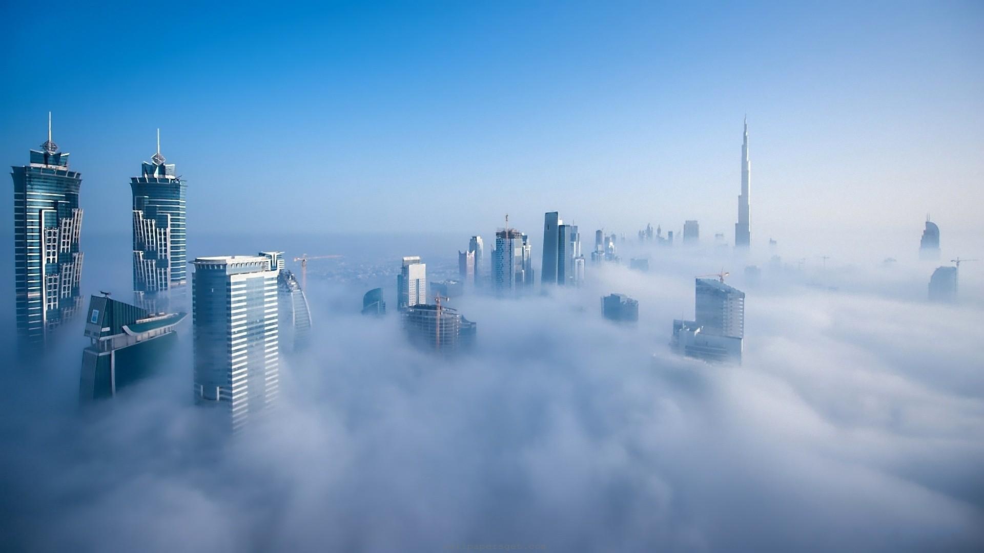 Fantastic city in the fog 52