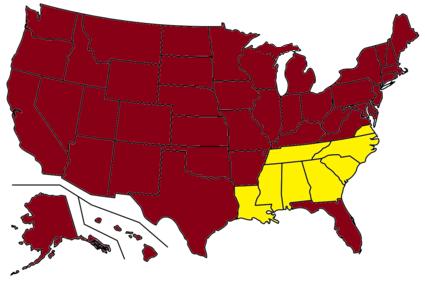 2nd American Civil War Liberalized America Future Fandom - Map-of-us-before-civil-war