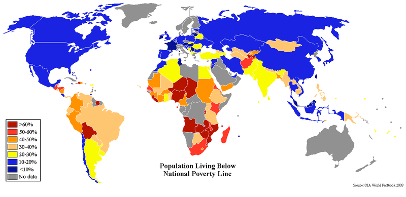 Image Percent Poverty World Mappng Future FANDOM Powered By - Poverty map 2016