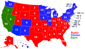 2016 Election map Eastest566