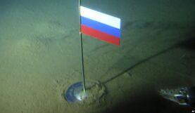 Российский флаг на дне Северного ледовитого океана