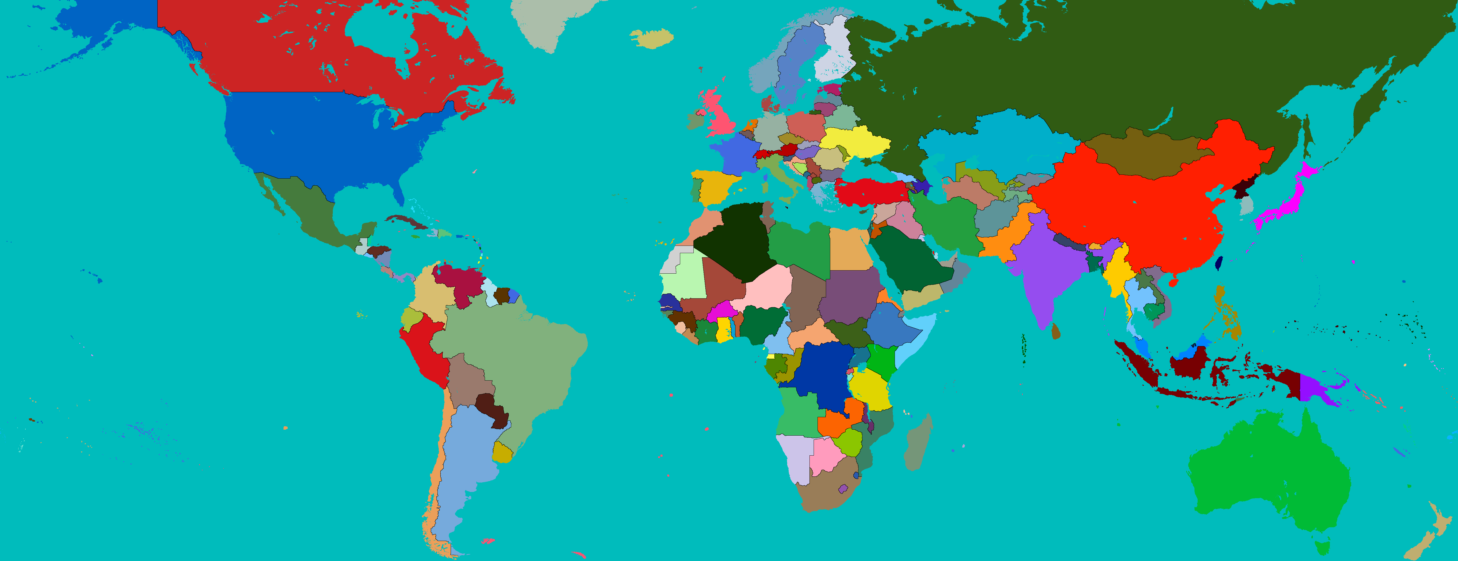 A world of war ii map game future fandom powered by wikia colored map of the world gumiabroncs Image collections