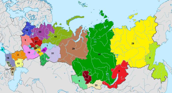 Административное деление Конфедерации