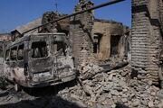 Tskhinvali destroyed houses