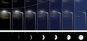 Lunar streetlights