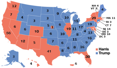 Red State Vs Blue State Divide Wikipedia The Free Encyclopedia - Red blue map of us
