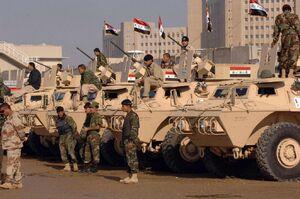 Iraqi military parade