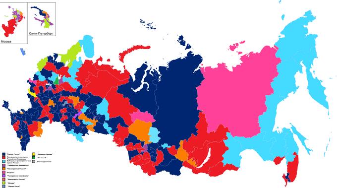 Карта одномандатников