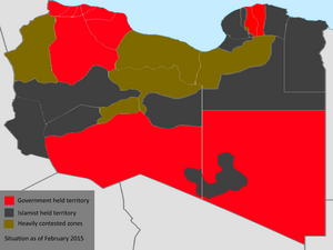 Map of Libyan conflict