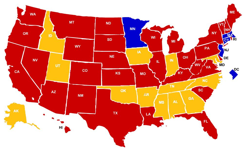 Image Pres  Elec Mapjpg Future FANDOM Powered By Wikia - Picture of a us presidential electoral map