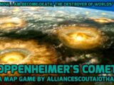 Oppenheimer's Comet: A Map Game