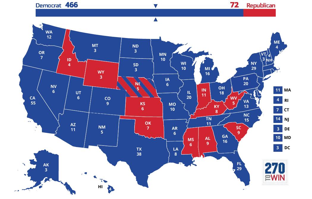 United States Presidential Election Kanyes America - Us map presidential election