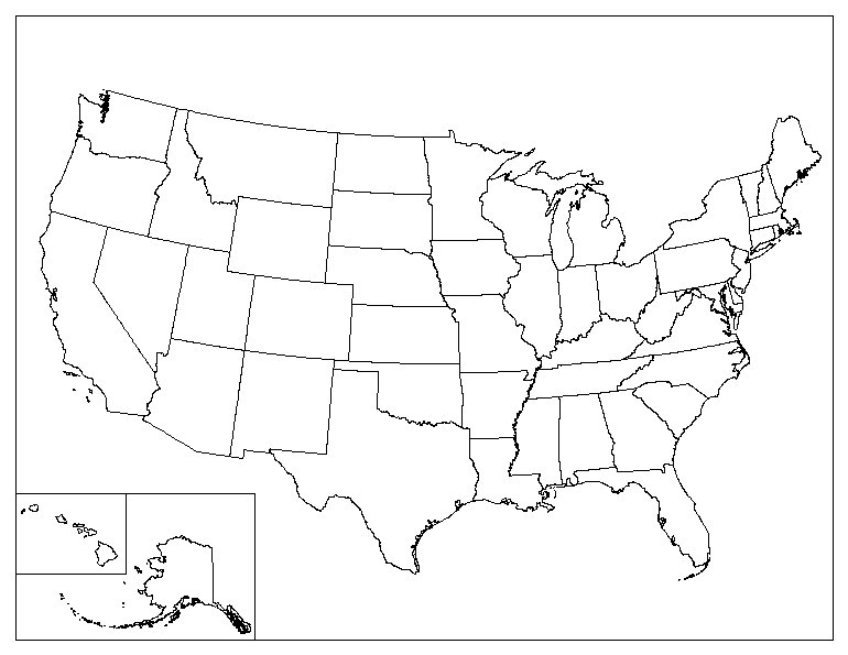 Blank Map Of United States Image   Blank map of the united states. | Future | FANDOM  Blank Map Of United States