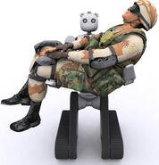 BEAR PV2 kneel w soldier F-1-