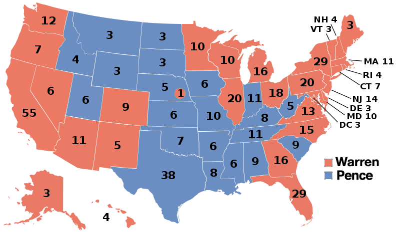 United States Presidential Election Scenario Years - Future map of the united states